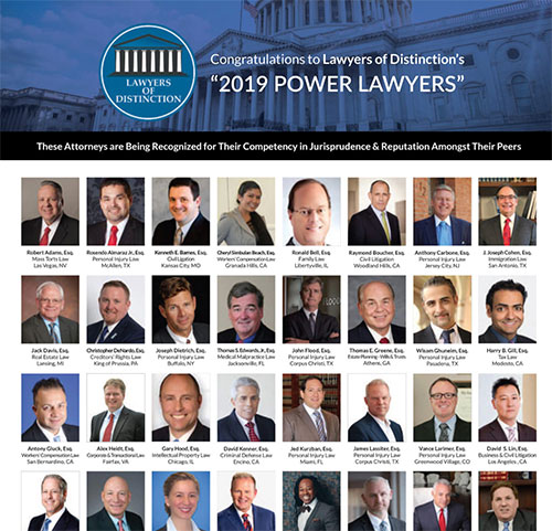Congratulations to Lawyers of Distinction's