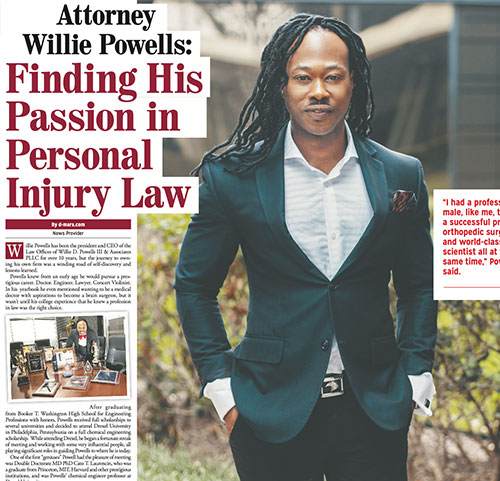 Attorney Willie Powells: finding his passion in his personal injury law
