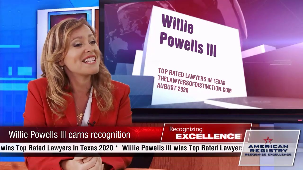 Willie Powells III - Recognized for Excellence